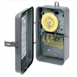 Intermatic - T103R - Heavy Duty Mechanical Time Switch -- 24-Hour Dial - 40 Amps - 125V - DPST - NEMA 3R Raintight Steel Case - Gray