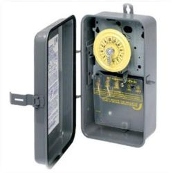 Intermatic - T104R - Heavy Duty Mechanical Time Switch -- 24-Hour Dial - 40 Amps - 208-277V - DPST - NEMA 3R Raintight Steel Case - Gray