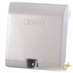 "Intermatic - WP1030MXD - Vertical Mount Extra Duty Weatherproof Receptacle Cover -- 2 Gang - Gray Die Cast Aluminum - 6.312""x5.75""x3.25"" (LWH) - Depth 3-1/8"""