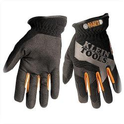 Klein Tools - 40053 - Journeyman Utility Gloves (K1) -- Large - Synthetic Leather - Breathable - Contact Points on Finger and Thumb