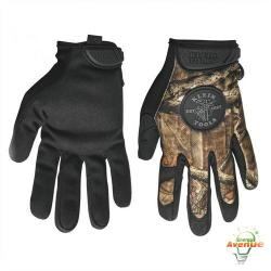 Klein Tools - 40208 - Journeyman Camouflage Gloves -- Size Medium - Trek Dry Stretch Material