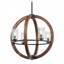 Kichler - 43185AUB - 4 Light Chandelier - 120V