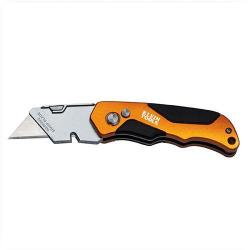 "Klein Tools - 44131 - Folding Utility Knife -- 4-1/2"" Overall Length, 4-1/8"" Closed Length - Heavy Duty"