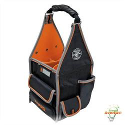 Klein Tools - 55415-8 - Tradesman Pro Organizer 8 Inch Tote -- Black and Orange - 20 Pockets - 1680d Ballistic Weave