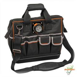 Klein Tools - 55431 - Tradesman Pro Organizer Lighted Tool Bag -- 31 Pockets - 1680d Ballistic Weave