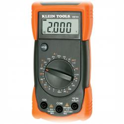 Klein Tools - MM300 - Manual-Ranging 600V Digital Multimeter -- CAT III 600V safety rating - Includes test leads and batteries