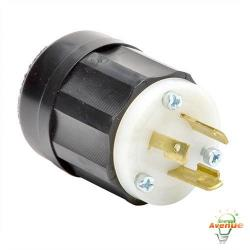 Leviton - 2321 - Twistlock Plug -- Nema L6-20P - Black and White - 20 Amp