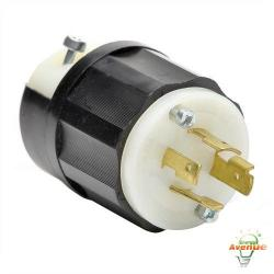Leviton - 2411 - Twistlock Plug -- Nema L14-20P - Black and White - 20 Amp
