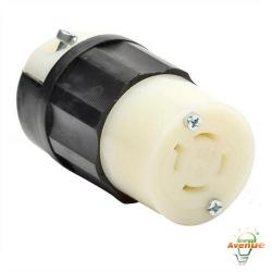 Leviton - 2413 - Twistlock Connector -- Nema L14-20R - Black and White - 20 Amp