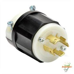 Leviton - 2431 - Twistlock Plug -- Nema L16-20P - Black and White - 20 Amp