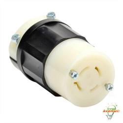 Leviton - 2433 - Twistlock Connector -- Nema L16-20R - Black and White - 20 Amp