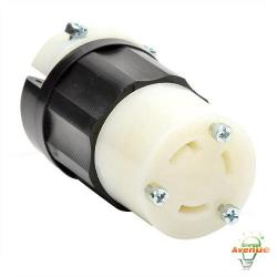 Leviton - 2613 - Twistlock Connector -- Nema L5-30R - Black and White - 30 Amp