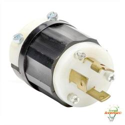 Leviton - 2621 - Twistlock Plug -- Nema L6-30P - Black and White - 30 Amp