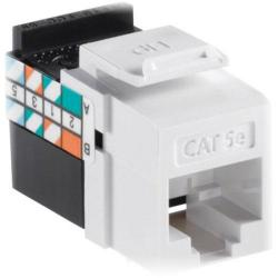 Leviton - 5G108-RW5 - Connector -- QuickPort - GigaMax - CAT5e - Snap-in - White