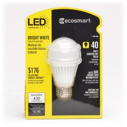 Lighting Science - Eco Smart - ECS A19WW-120 - A19 LED -- 8 Watt - 40 Watt Equal - 120V - 3000K