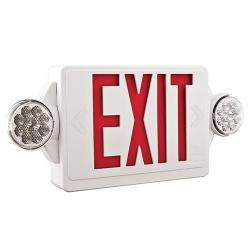 Lithonia Lighting - LHQM-LED-R-M6 - LED Exit Sign -- 4.3 Watts - 120/277V - NiCad Battery