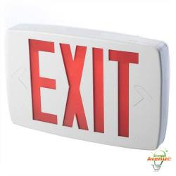 Lithonia - LQMSW3R ELN - LED Exit Sign -- Battery Backup - 120/277V - White Housing - Red Letters - 6 inch High Letter Size