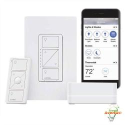 Lutron - P-BDGPRO-PKG1W - Caseta Smart Bridge Pro Kit