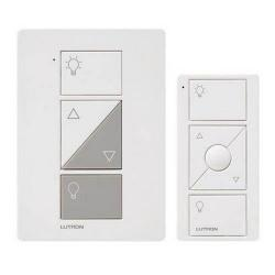 Lutron - P-PKG1P-WH - Wireless In Wall Dimmer and Remote -- 10 Yr Battery Life - 30 Ft Range