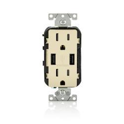 Leviton - T5632-I - USB Charger/Tamper Resistant Duplex Receptacle