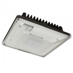 Maxlite 101024 - 40W LED Low-Profile Canopy - 5000K -- CPL40AUP50B - 4,645 lumens - Parking Garage Distributions - Bronze - 120-277V
