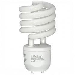Spiral CFL - GU24 - 23 Watt - 100W Incandescent Equal -- 1600 Lumens - 2700 Kelvin Warm White - Maxlite MLS23GUWW-133