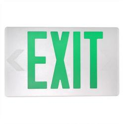 MaxLite - MLEU2GWEM - Green Lettered LED Exit Sign -- 2 Watt - White Housing - Backup Battery