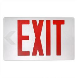 MaxLite - MLEU2RWEM - Red Lettered LED Exit Sign -- 4 Watt - White Housing - Backup Battery