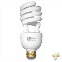 Maxlite - MLS25EA3WW-110 - 01110 - Spiral CFL -- 50/75/100 Watt Incandescent Equivalent - 26 Watt - 2700K - 1700 Lumens
