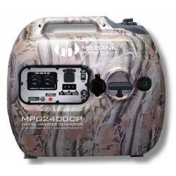 Milbank - MPG2400CIP - Camouflage Digital Inverter Portable Generator -- 2100 Watt - 12V DC - 79cc - 1.3 Gallon Fuel Tank