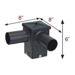 MaxLite S4HT290BZ - 72084 - Double 4 Inch Square Horizontal Tenon