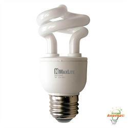 Maxlite - SKS7EAWW - 01009 - Spiral CFL -- 25 Watt Incandescent Equivalent - 7 Watt - 2700K - 385 Lumens