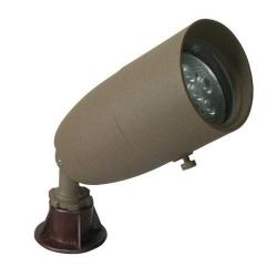 Orbit Industries - 1071-BR - Bronze Cast Aluminum Hooded Bullet Landscape Light -- 12V - 20 Watt MR16 Bulb, 35 Watt Max - Tempered Glass Lens - GS-85 PVC Spike - CO-3 Connector - Bronze Finish