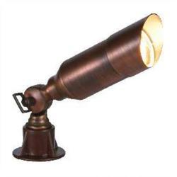 Orbit Industries - B103-AB - Antique Brass Cast Brass Hooded Bullet Landscape Light