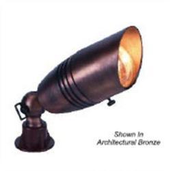 Orbit Industries - B171-AB - Antique Brass Cast Brass Hooded Bullet Landscape Light
