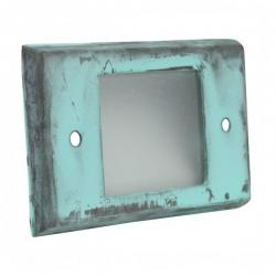 Orbit Industries - B600C-AG - Cover Plate for B60H -- Made from Solid Brass - Aged (Acid) Green Finish