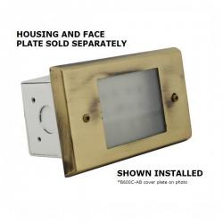 Orbit Industries - B600C-NB - Cover Plate for B60H -- Made from Solid Brass - Natural Brass Finish