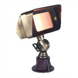 Orbit Industries - B610-AB - Antique Brass Cast Brass Rectangle Landscape Spot Light