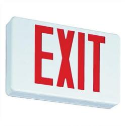 "Orbit Industries - ESL-BR - Exit Sign -- 120/277VAC - 6"" Letters - Black Housing / Red Letters"