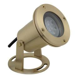 Orbit Industries - LB510-CW - LED Underwater Directional Light - Brass -- 3 Watts - 12V - 4700K - Cool White