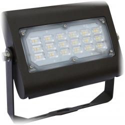 Orbit LFL6-30W-CW-T - 30W LED Flood Light - 5000K -- With Trunnion Mount - 100W Metal Halide Equivalent - 3718 Lumens - 80 CRI - 120-277V - Type III Distribution - Bronze