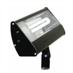 Orbit Industries - S613-BK - Black Aluminum Compact Fluorescent Flood Light Fixture -- 120V - PL13 Compact Fluorescent Bulb - Tempered Glass Lens - Black Finish