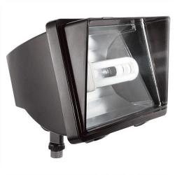 RAB Lighting - FF42QT - LED Bronze Fluorescent Flood Light -- 42 Watt - GX24q-4 Base - 120/277V