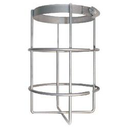 RAB Lighting - GD100BAR - Flat Bottom Wire Guard -- No. 8 Gauge Steel Rod Welded to a Clamping Band - Silver Gray Finish