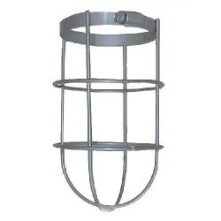 RAB Lighting - GD100CL - Wire Clamp Guard -- No. 8 Gauge Steel Rod Welded to a Clamping Band - Silver Gray Finish