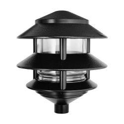 Rab LL322B - 75W 3-Tier Pagoda Light - Black Finish