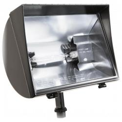 RAB Lighting - QF500F - Quartz Halogen Flood Light -- 500 Watt - 120V - T3 Bulb - R7s Socket Type - Tempered Glass Lens - Bronze Finish