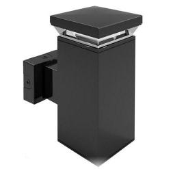 RAB Lighting - WBLED18 - Square LED Wall Sconce Fixture - 5100K -- 18 Watt - 120/277V - 70 CRI - 5100K Daylight White - Bronze Finish