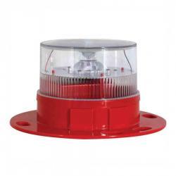 Sealite - AV-OL-60 - Solar Aviation Light -- LEXAN Polycarbonate - 3.6V - 5.7KM - Red