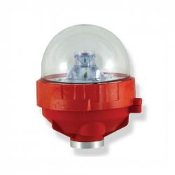 Avlite - AV-OL-FL810-UM-R - LED Single Low Intensity Obstruction Light -- LEXAN Polycarbonate - 110-240VAC - Red